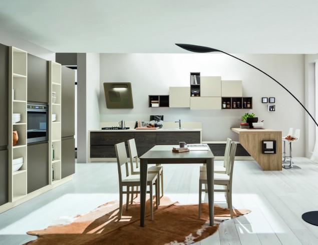 Art 06185800 Cucina moderna senza maniglia ARREX mod Arcobaleno ...