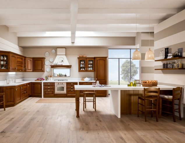 Cucina Classica Castagno: Cucina vama classica domus mobili ...